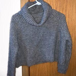 EUC Zara Knit Cowl Turtleneck Sweater Size Small